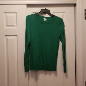 Size s J. Crew emerald green light weight sweater.